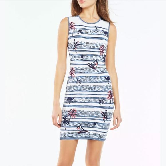 BCBGMaxAzria Dresses & Skirts - BCBG MAXAZRIA | Jose Jacquard tropical camel dress